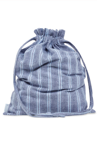 Cotton Laundry Bag (Bagc) - Navy Check