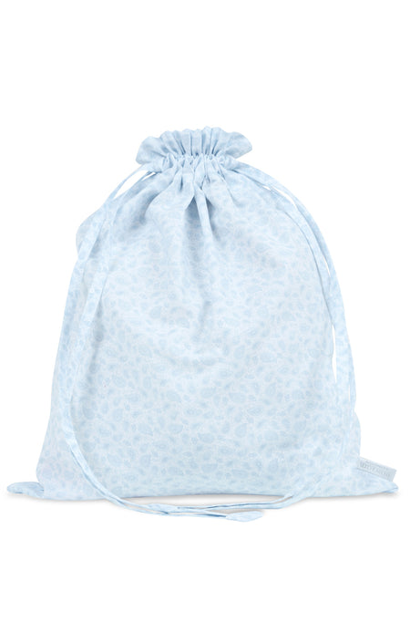 Cotton Blue Paisley Laundry Bag | Bonsoir of London
