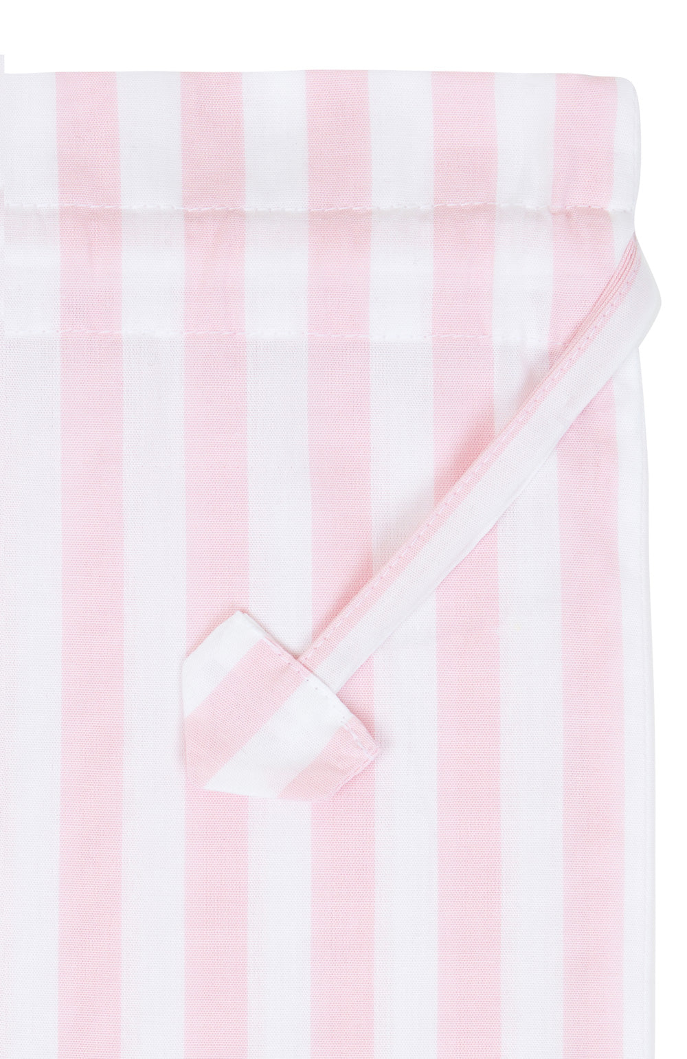 Cotton Pink Stripe Laundry Bag | Bonsoir of London