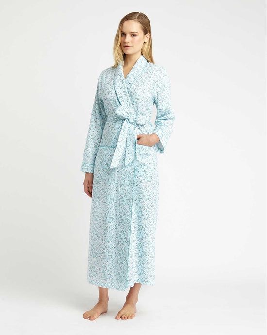 Women's Brushed Cotton Sophie Nightdress (Soph) - Grey Floral