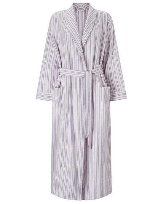 Women's Brushed Cotton Dressing Gown (tldg) - Linnhe Plaid