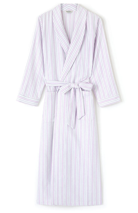 Brushed Cotton Pink Blue Stripe Gown | Bonsoir of London
