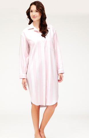 BRUSHED PASTEL GOWN - PINK SPOT