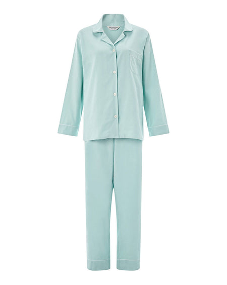 Women's Brushed Cotton Pyjamas - Duck Egg