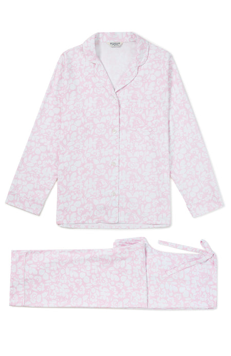 Brushed Cotton Pink Floral Pyjamas | Bonsoir of London