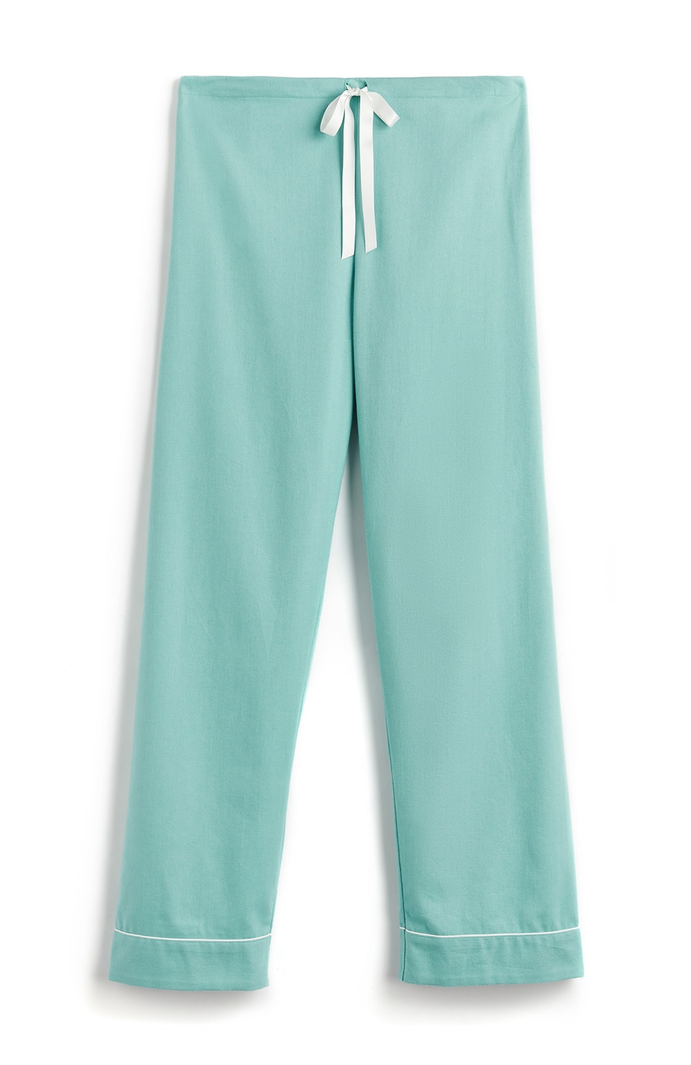 Brushed Pastel Pyjama Trousers (bltf) - Aqua Herringbone | Bonsoir of London