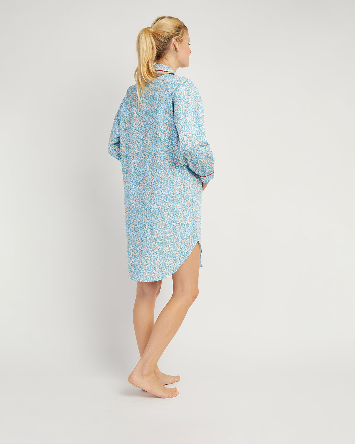 Women's Maternity Nightshirt Blue Floral | Bonsoir of London