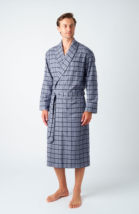 Men's Penrith Brushed Cotton Dressing Gown | Bonsoir of London