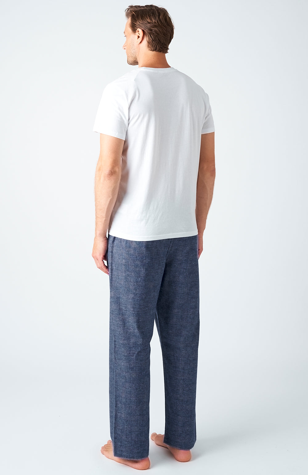 Men's Bude Brushed Cotton Pyjama Trousers | Bonsoir of London