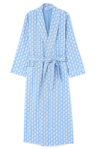 Brushed Cotton Pyjamas (blps) - Blue Paisley