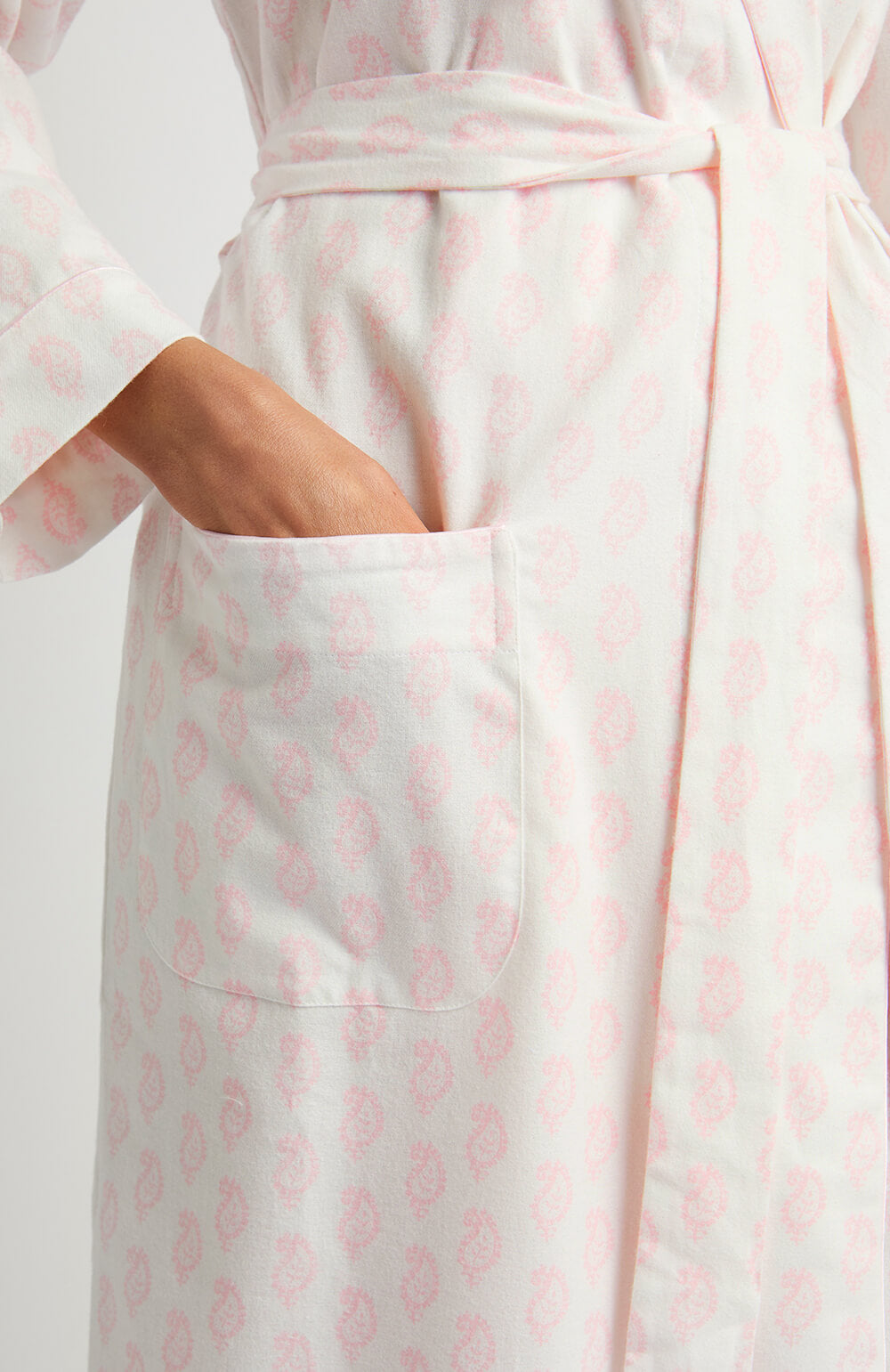 Brushed Pastel Gown (bldg) - Pink Paisley | Bonsoir of London