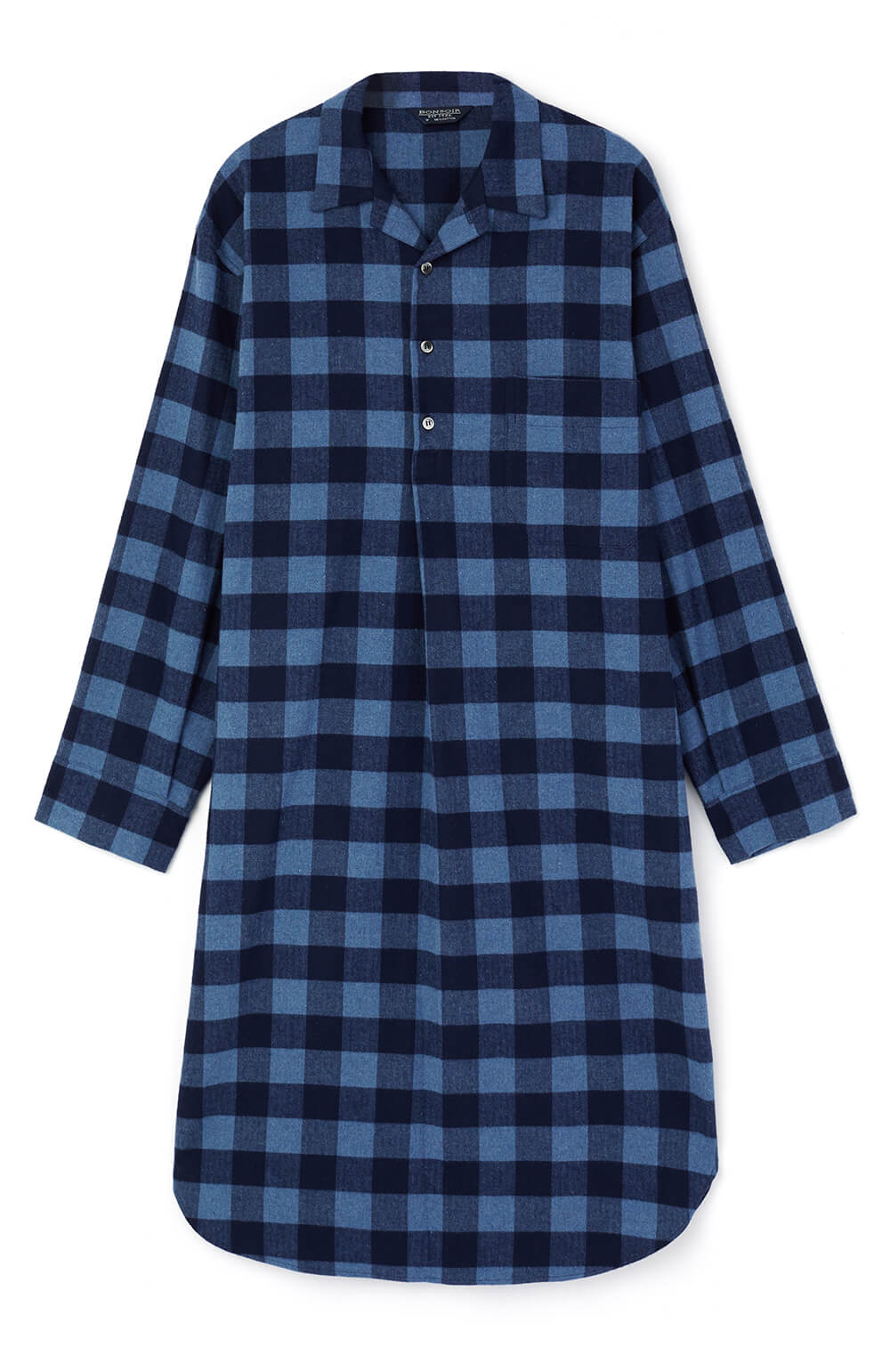 Brushed Cotton Nightshirt (jmnm) - Howard | Bonsoir of London