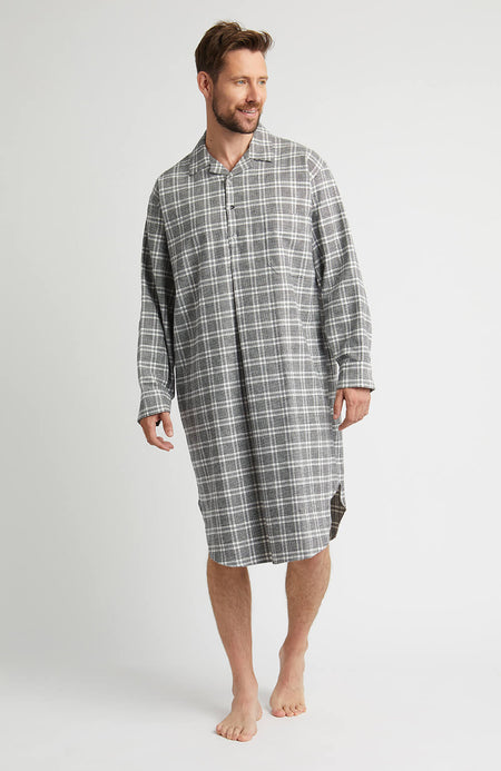 Brushed Cotton Nightshirt (jmnm) - Rathbone | Bonsoir of London