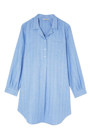 Maternity Short Sleeve Nightshirt (Mcss) - Pink Clouds