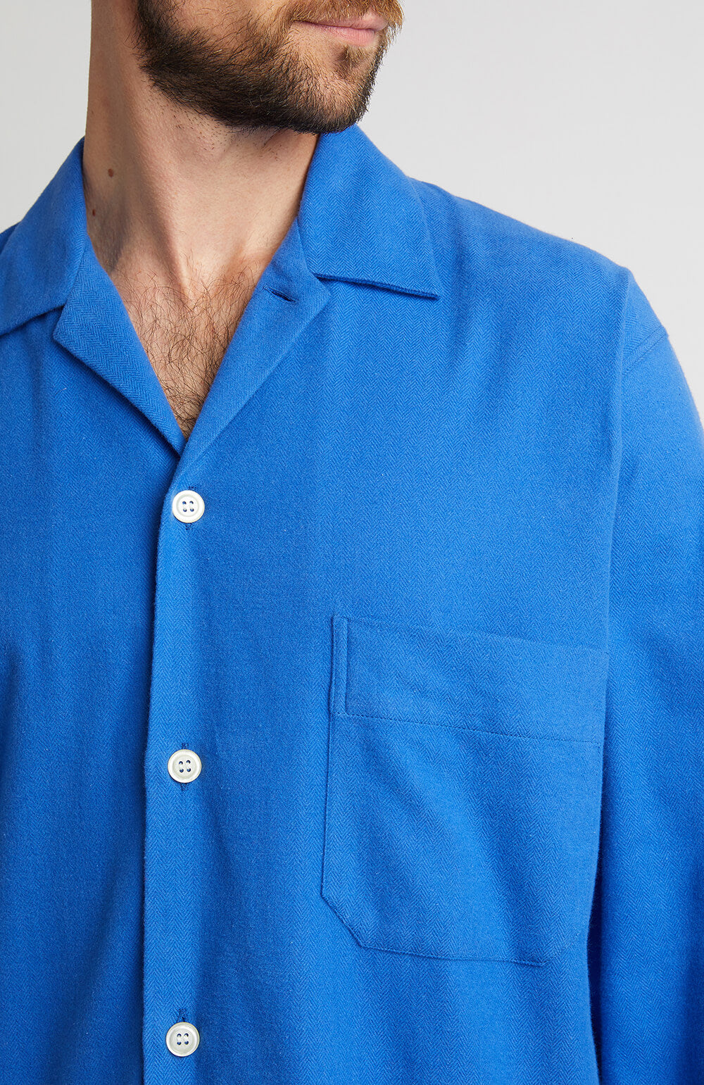 Brushed Cotton Pyjamas (jmpe) - Bright Blue | Bonsoir of London