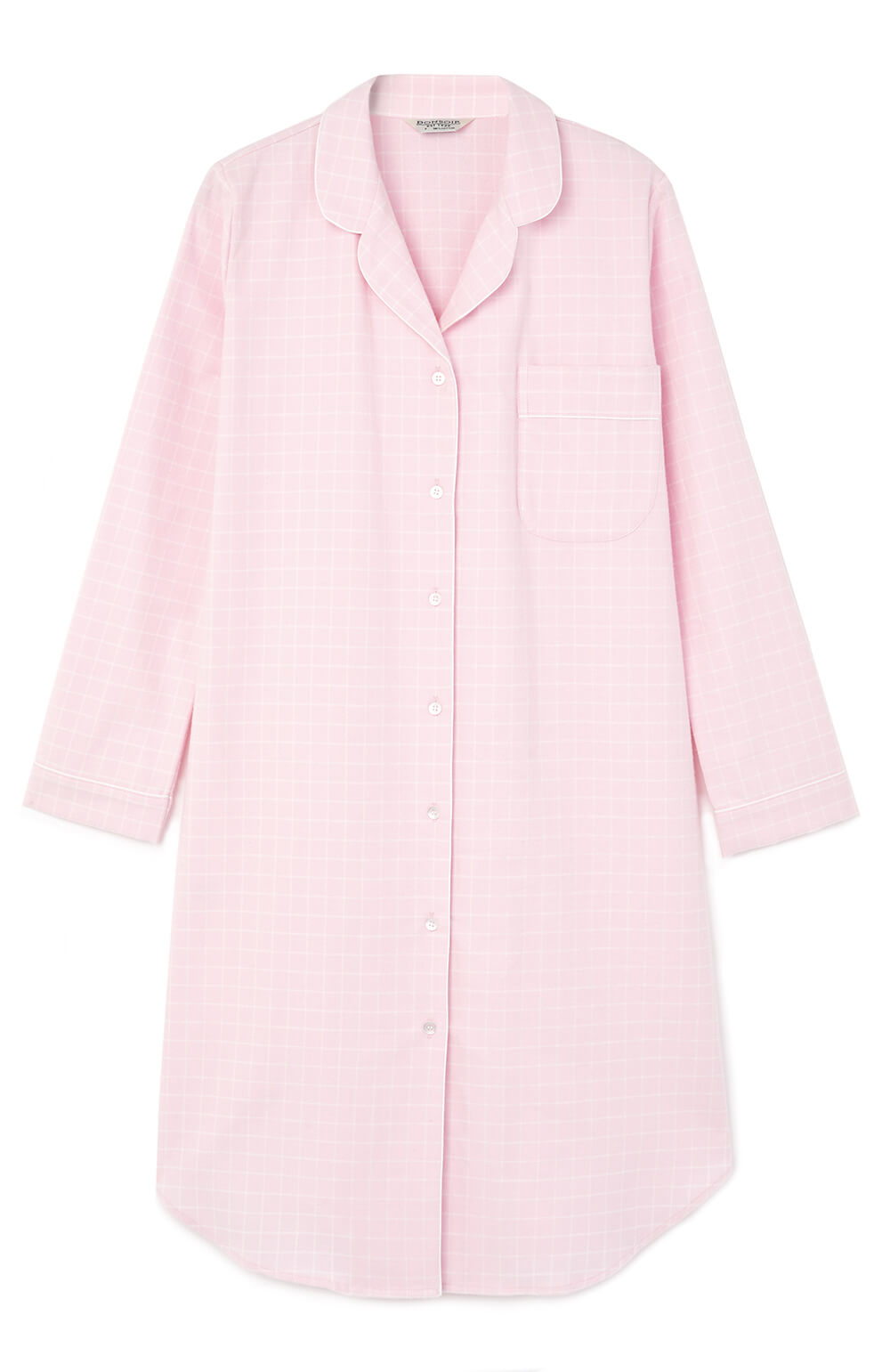 06d6064e2033 Brushed Cotton Pink Check Pastel Nightshirt
