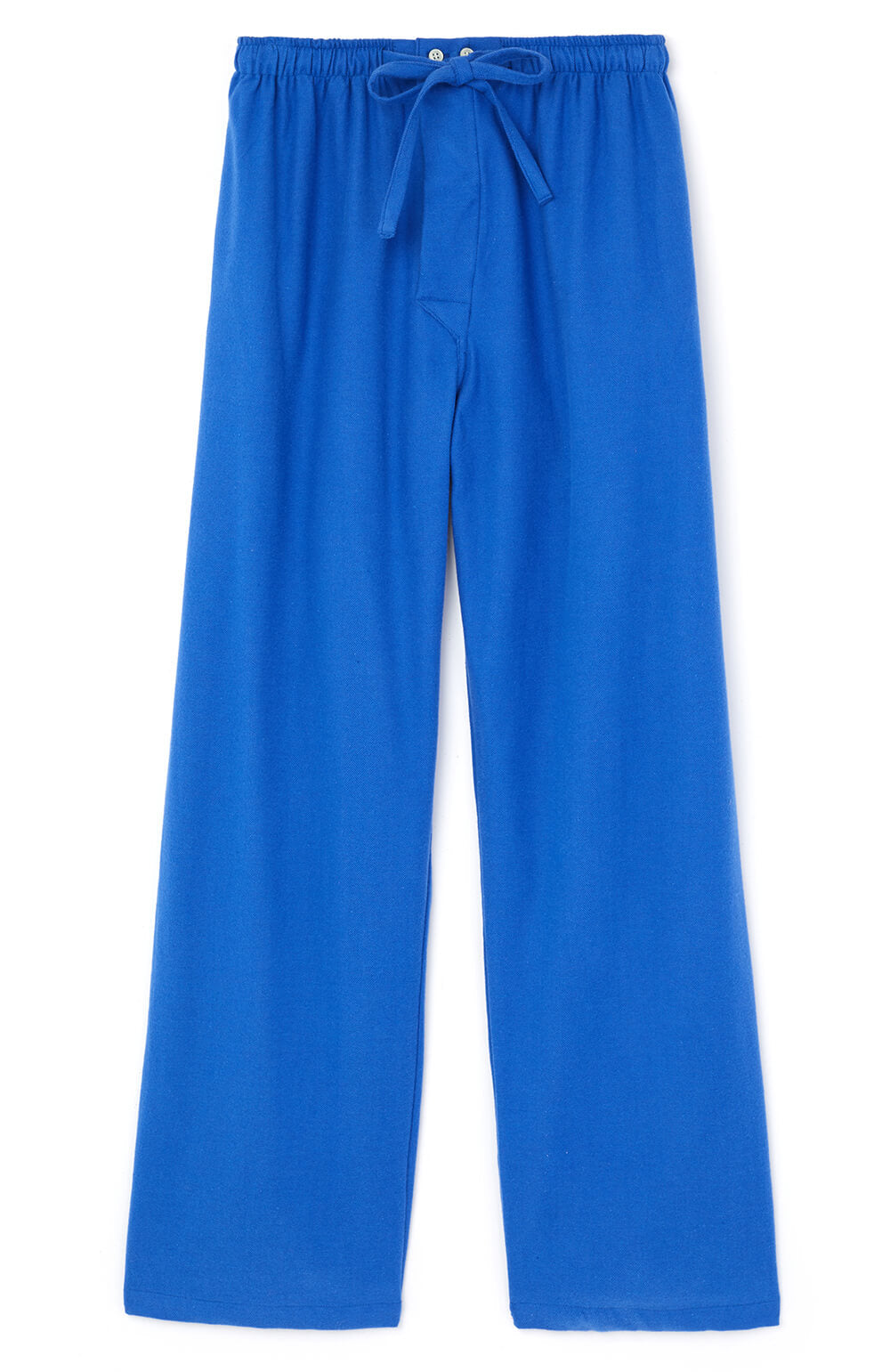 Brushed Cotton Bright Blue Pyjama Trousers | Bonsoir of London