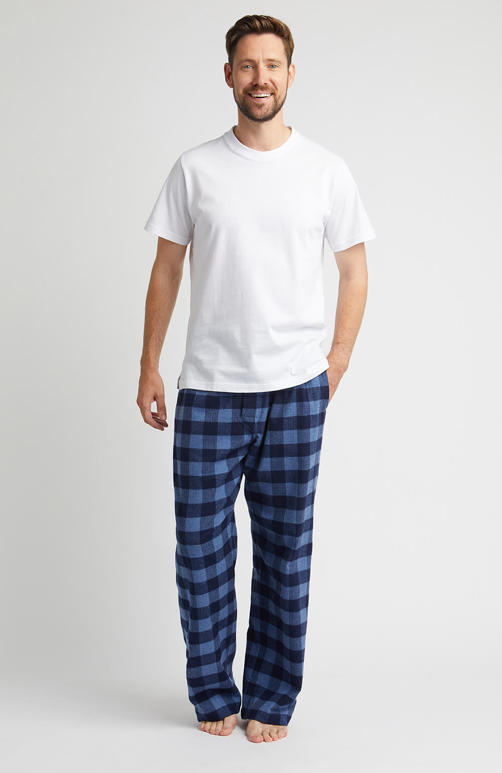 Brushed Cotton Pyjama Trousers (jm54) - Howard | Bonsoir of London