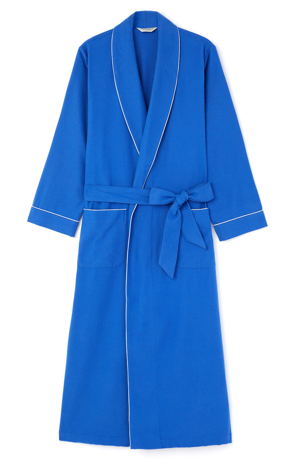 Brushed Cotton Bright Blue Gown | Bonsoir of London