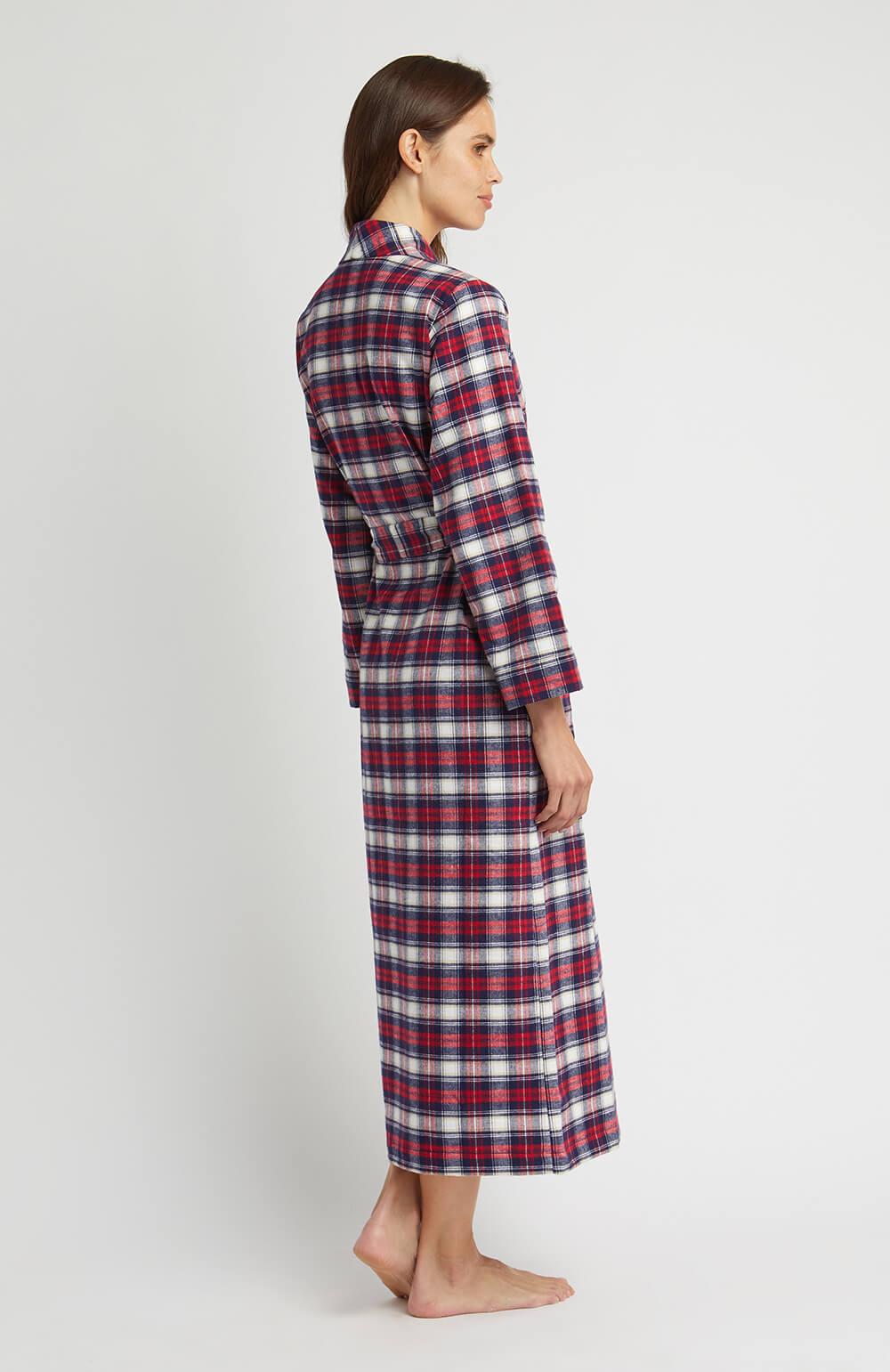 Brushed Tartan Gown (tldg) - Stewart | Bonsoir of London
