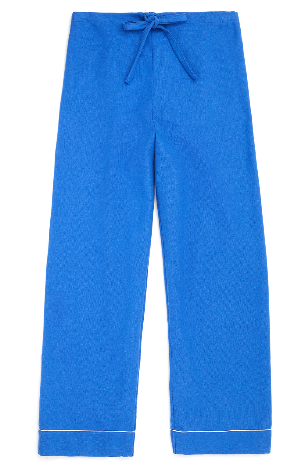 Brushed Tartan Pyjama Trousers (tltf) - Bright Blue | Bonsoir of London