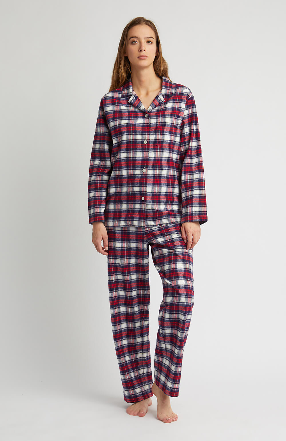 Brushed Tartan Pyjamas (tlps) - Stewart | Bonsoir of London