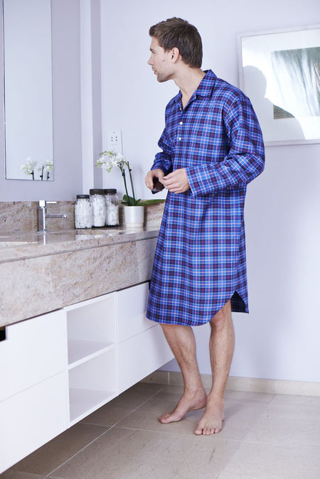BRUSHED COTTON NIGHTSHIRT - CALDER | Bonsoir of London