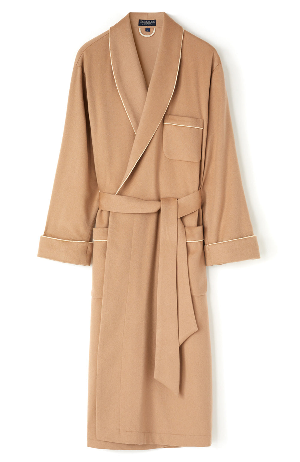 Men's Luxury Camel Cashmere Robe | Bonsoir of London