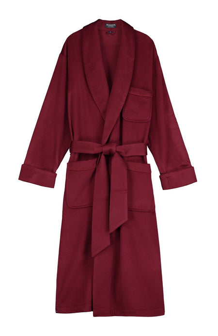 Men's Luxury Bordeaux Cashmere Dressing Gown | Bonsoir of London