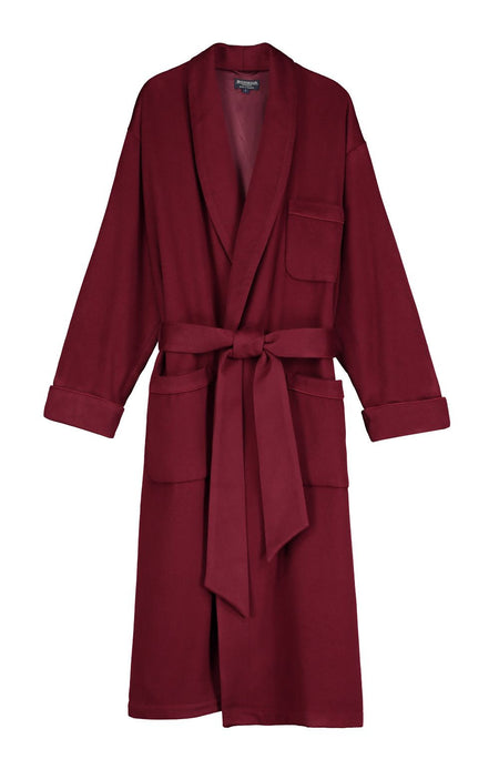 Men's Luxury Bordeaux Silk-Lined Cashmere Dressing Gown | Bonsoir of London