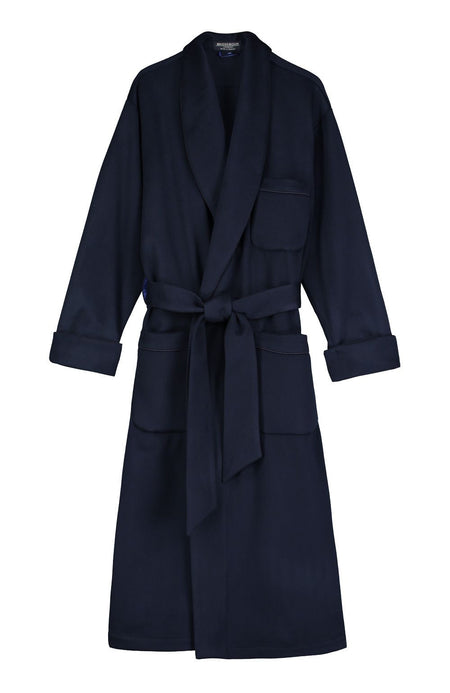 Mens Luxury Navy Cashmere Dressing Gown | Bonsoir of London