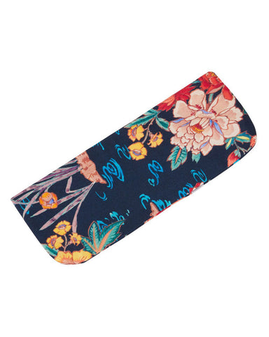 Silk Glasses Case (Cass) - Wine Motif