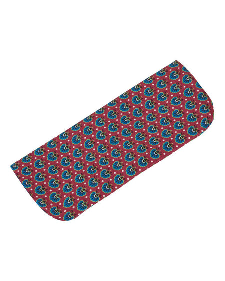 Men's Wine Motif Silk Glasses Case | Bonsoir of London