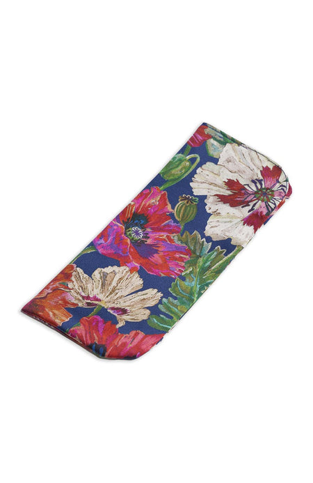 Women's Flowers Silk Glasses Case | Bonsoir of London