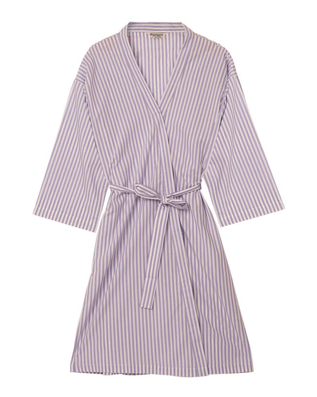 Lilac Stripe Kimono Robe | Bonsoir of London