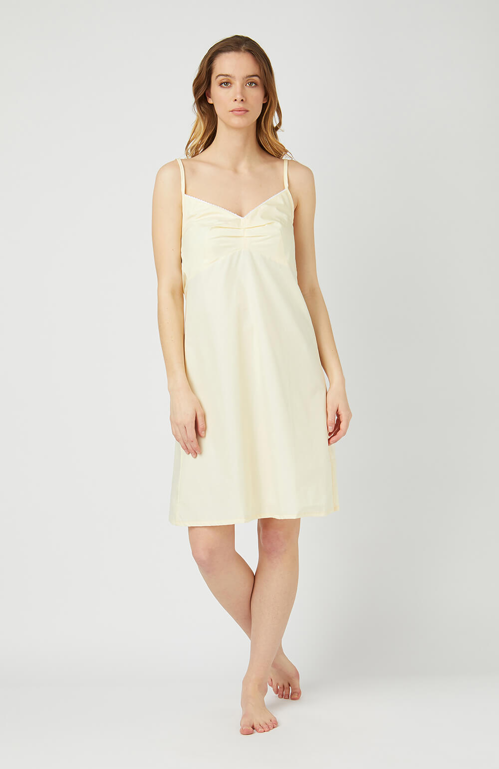 Strappy Nightdress (clfd) - Buttermilk