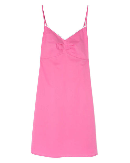Women's Strappy Cotton Nightdress - Pink