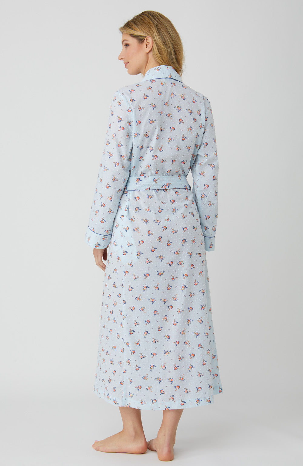 Classic Cotton Blue Posy Gown | Bonsoir of London