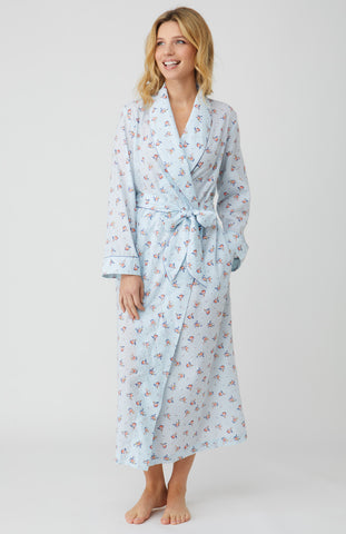 Cotton Pyjamas (clfp) - Blue Fine Stripe