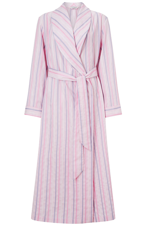 CLASSIC COTTON GOWN - PINK MULTISTRIPE