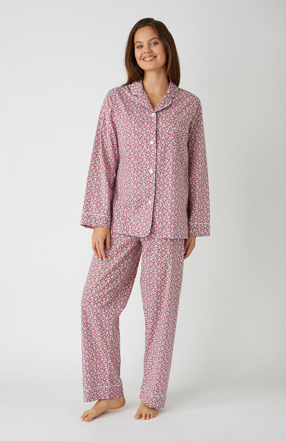 Classic Cotton Berry Floral Pyjamas | Bonsoir of London