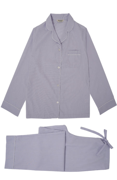 Classic Cotton Lilac Pyjamas | Bonsoir of London