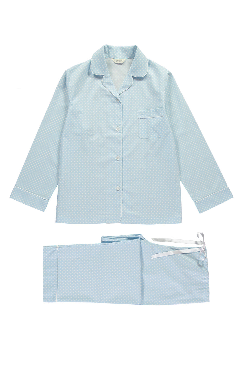 Classic Cotton Pyjamas (clfp) - Sky Spot | Bonsoir of London