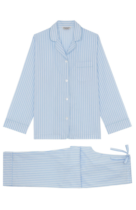 Classic Cotton Pyjamas (clfp) Blue White Stripe