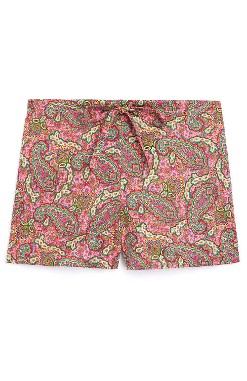 COTTON SHORTS - PINK PAISLEY