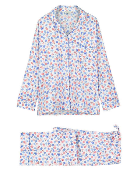 Women's Classic Cotton Pyjamas - Balloon Print