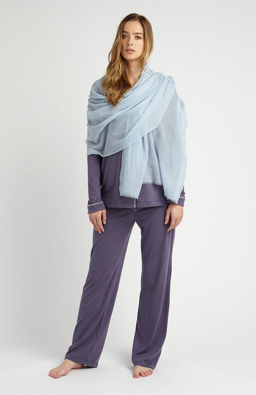Cashmere Shawl (cswl) - Sky | Bonsoir of London