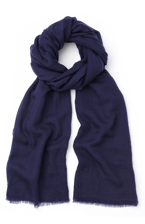 Cashmere Shawl (cswl) - Blue | Bonsoir of London