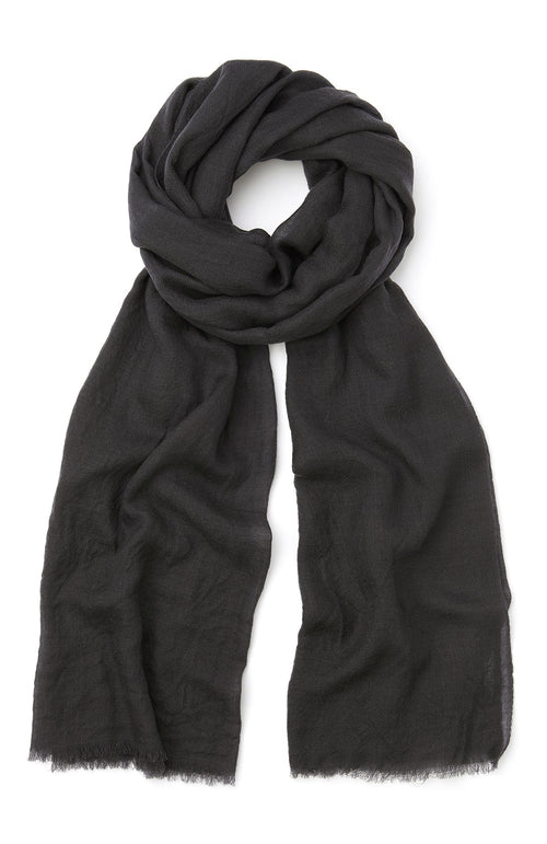 CASHMERE SHAWL - CHARCOAL | Bonsoir of London