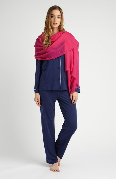 Cashmere Shawl (cswl) - Pink | Bonsoir of London